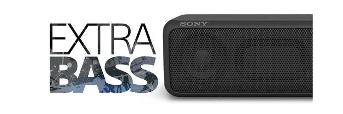 「SRS-XB3」「SRS-XB2」「Extra Bass」ボタン