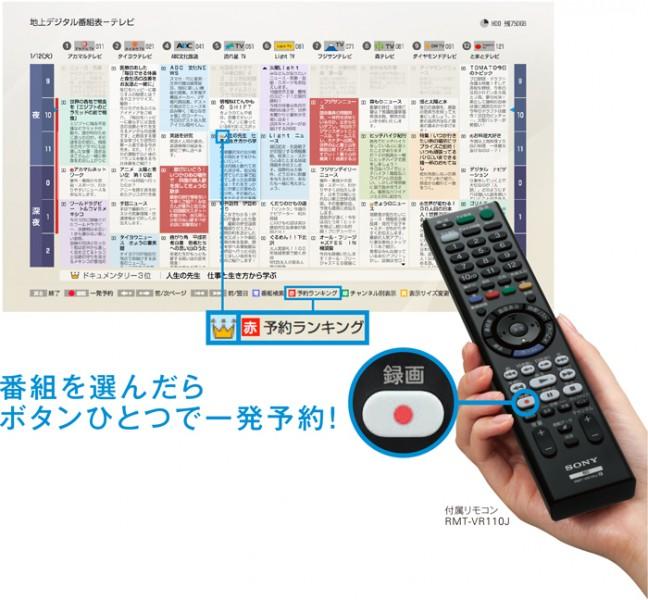 ソニー ブルーレイディスクレコーダー「BDZ-ZT2000」「BDZ-ZT1000」「BDZ-ZW1000」「BDZ-ZW500」