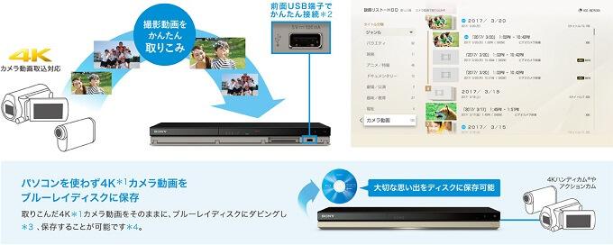 「4Kカメラ動画取りこみ」対応
